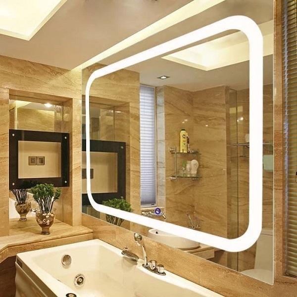 Çin Ev Led Makyaj Işıklı Banyo Aynası Bluetooth ile