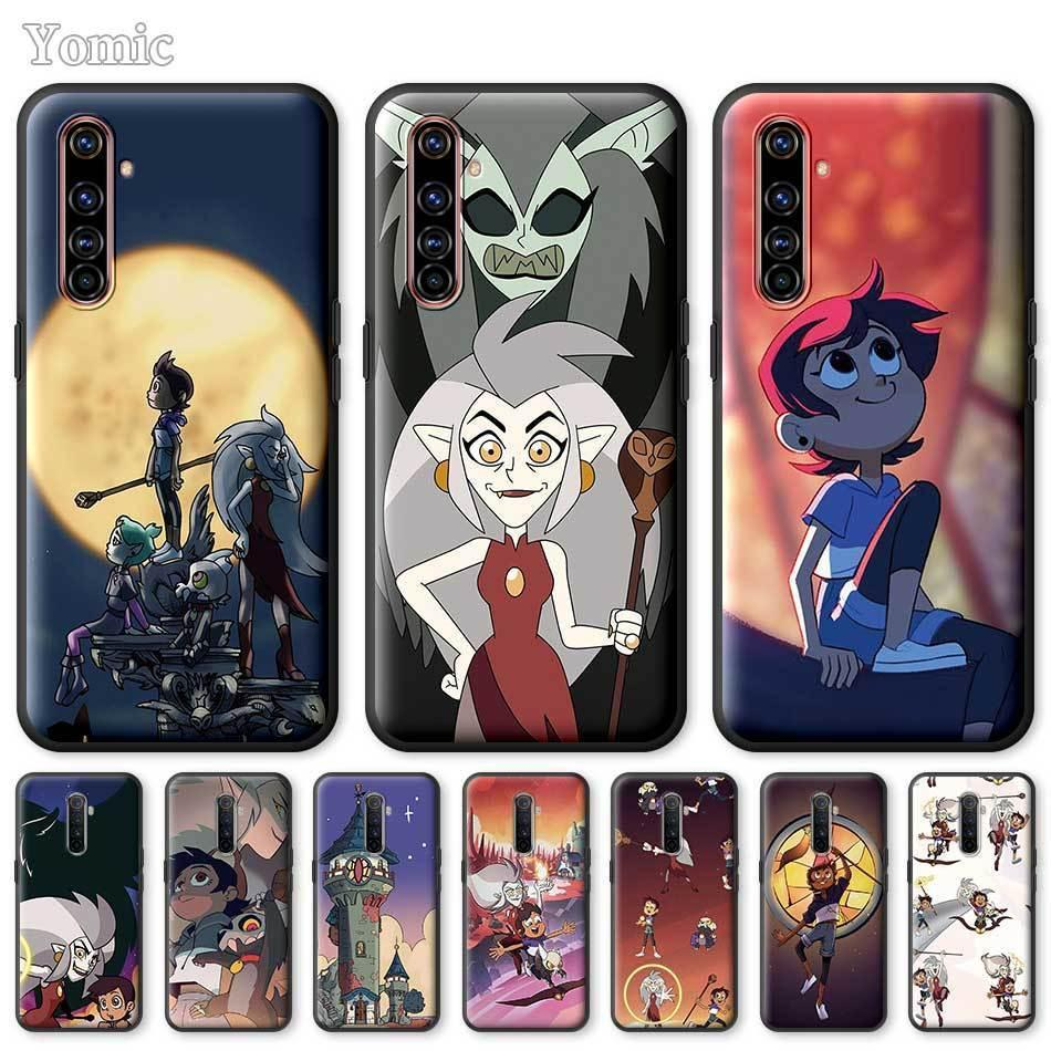 Realme 6 C3 XT 5 X50 C11 X3 7 Pro 6i 5i 6S 7i Coque The Owl Evi Siyah Yumuşak Silikon Kapak Shell için Yomic Telefon Kılıfları