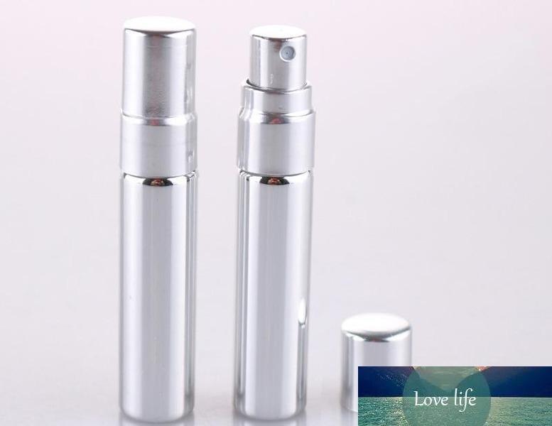 5ML bouteille portable de verre de l'échantillon avec de l'or et d'argent couvercle transparent bouteille de pulvérisation de verre vide atomiseur de parfum rechargeable transparent