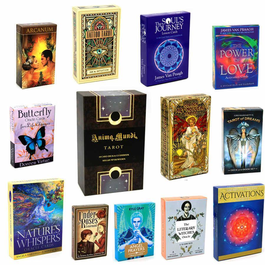 Tarot Kartları İngilizce Oracle Kartları Güverte Tarot Kartları Rehberlik Kehaneti Kader Kurulu Oyun Kartı Oyunu Partisi Oyun Kartı Oyunu