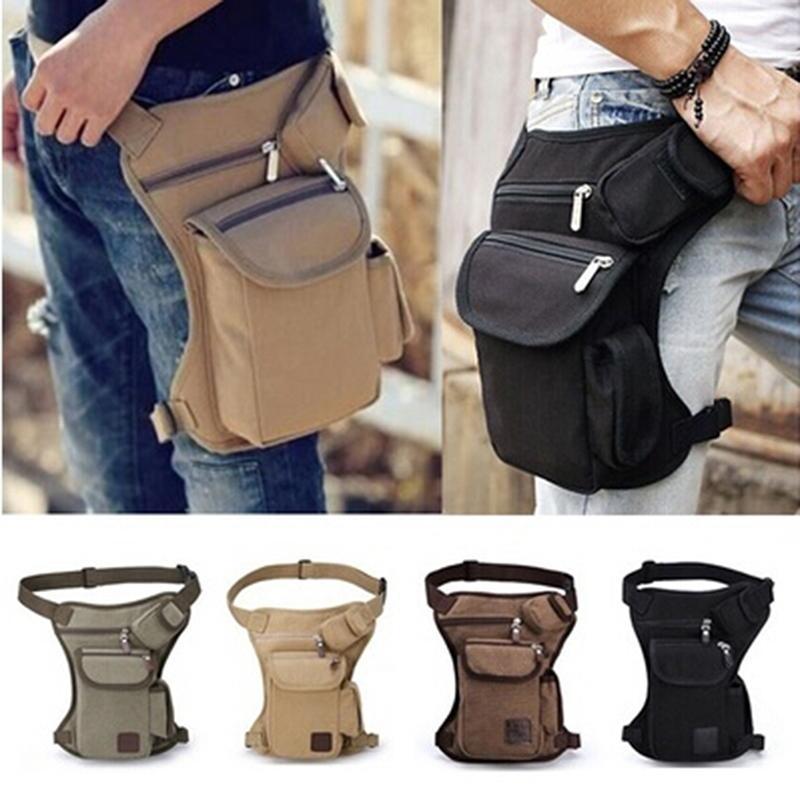 Homens de lona gota perna saco cintura fanny pack cinto quadril bug viajar multifuncional messenger bolsa bolsa bolsa de bolsa de fanny