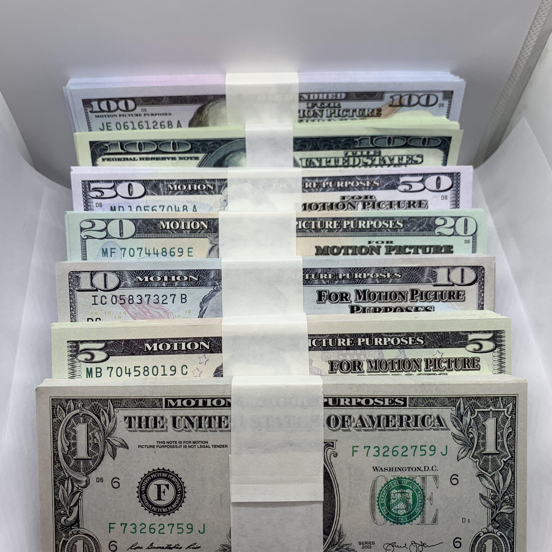 Prop Money 10 Billet 1 Dollar Money and Film 20 100 LA-022 Money Bar Atmosphere 5 50 Fake Props TV Billet Disparo Fotografiado Falsofa FA JTTQ