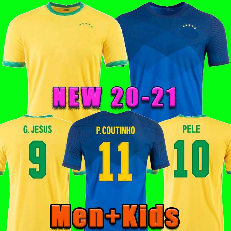 BRASIL NERES soccer jersey camiseta de futebol 2020 2021 G.JESUS COUTINHO 20 21 football shirt Men + Kids kit set uniforms
