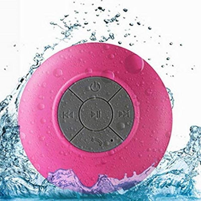 Duche Speaker Bluetooth Waterproof Portátil Sem Fio Resistente à água Mãos-Livres Built-in de sucção sólida para Banho Car Pool Praia Outdoor