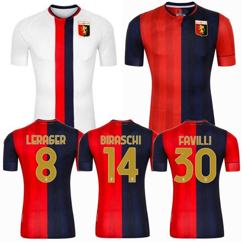 2020 2021 Genoa CFC Soccer Jerseys maison loin Behrami Pjaca Zajc Asoro Scamacca 20 21 maillot de football S-2XL