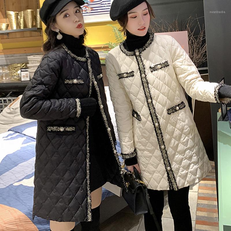 Женская хлопчатобумажная одежда зима новая новая корейская версия тонкой длинной хлопковой куртки женщины S1