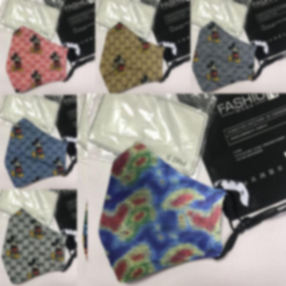 Novità Maschera Top Mens donne G-Lettere Marca Bocca esterna con 2pcs PM2.5 filtri personalizzati stampa lavabile antipolvere Bocca di copertura traspirante