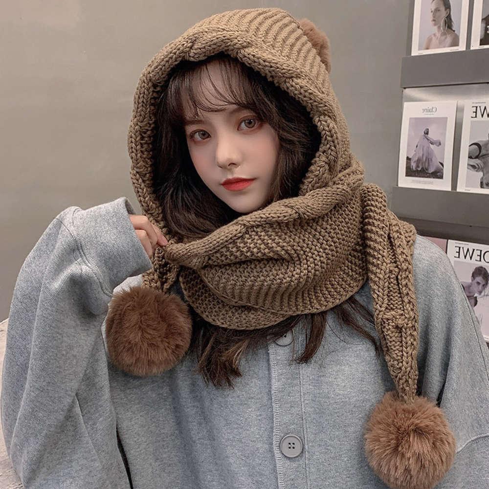 Шариковая шерстяная шапка для детей осенью и зимой