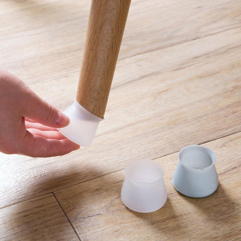 الجدول كرسي الساق حصيرة سيليكون عدم الانزلاق الجدول كرسي الساق قبعات الحماية القدم أسفل وسادات الحموض الخشب حماة الطابق التسليم في 3-5 أيام