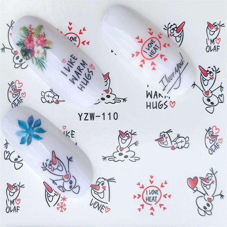 1 folha DIY Nail Art água de transferência Adesivos pato rato frango deslizante adesiva Watermark decalques Mulheres Beleza Wedding Nails