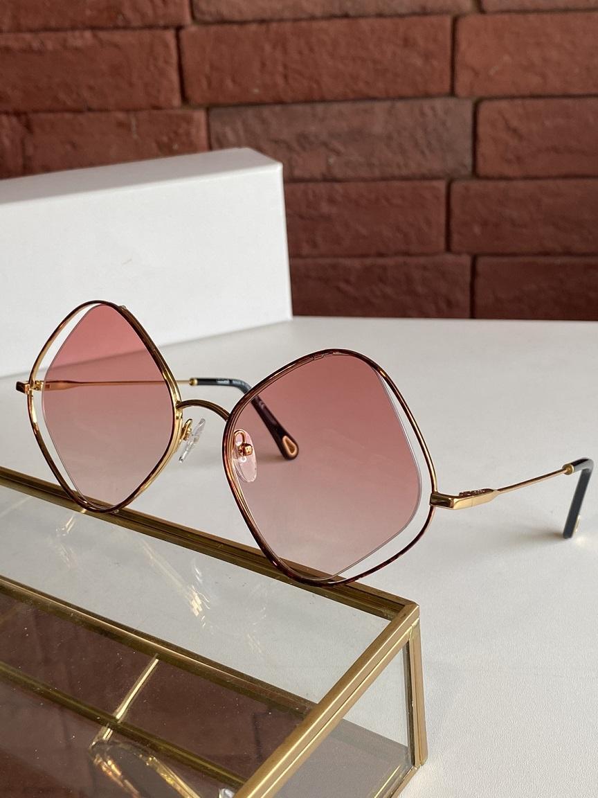 2021 نظارات معدنية ماسية على شكل ماس جديد مع مزاج مقاوم للإشعاع والنظارات الشمسية البسيطة والسخية