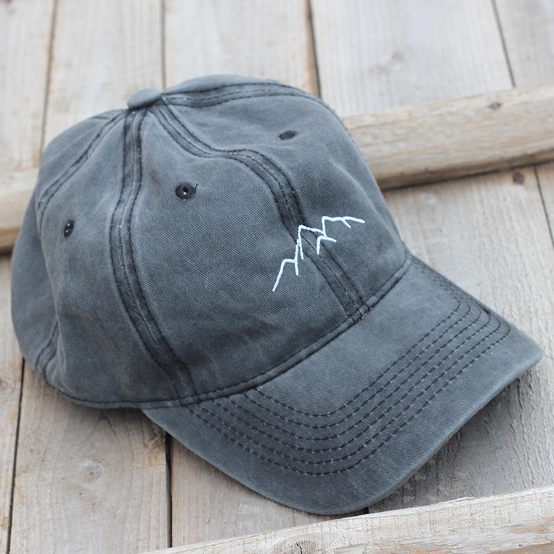 2019 neue Berggipfel Stickereikappe Freizeit gewaschen Baseballkappen einstellbar Hip Hop Hut 100% Baumwolle Frauen Mann Hüte C0123