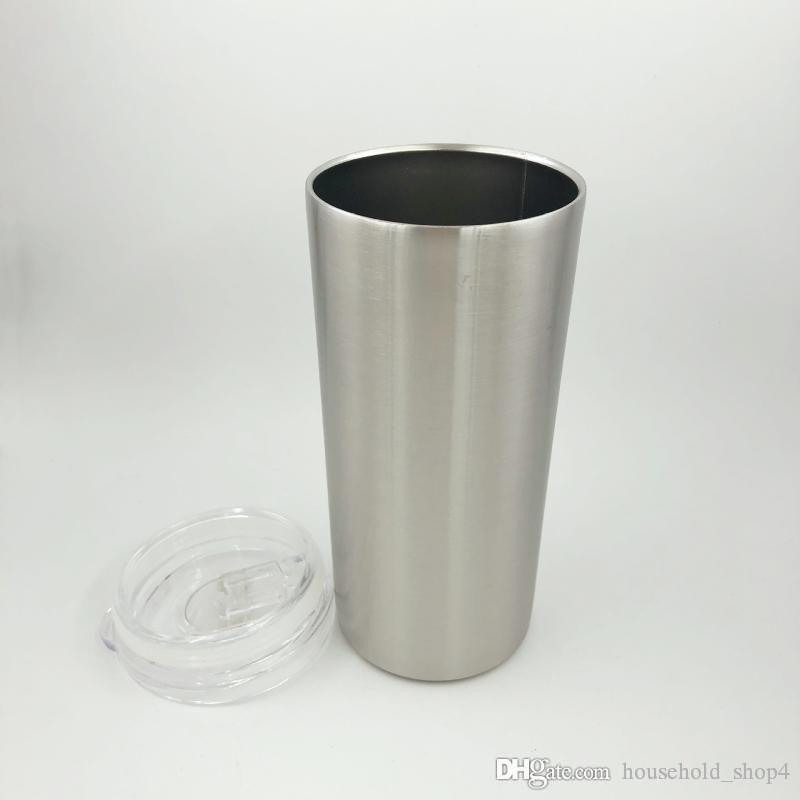 Tazze da caffè 304 tazze di vuoto in acciaio inox Vendita calda 2019 con cassette dei coperchi imballaggio individuale Bicchieri skinny