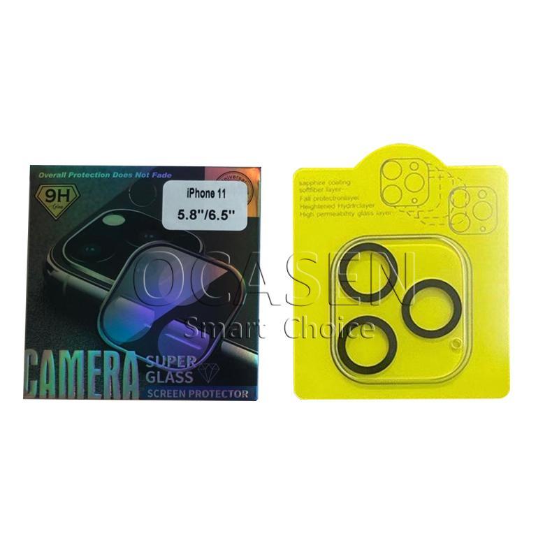 전화 렌즈 화면 보호기 아이폰 (12) 미니 (11) 프로 맥스 3D 투명 스크래치 방지 풀 커버 카메라로 돌아 가기 강화 유리 필름에 대한