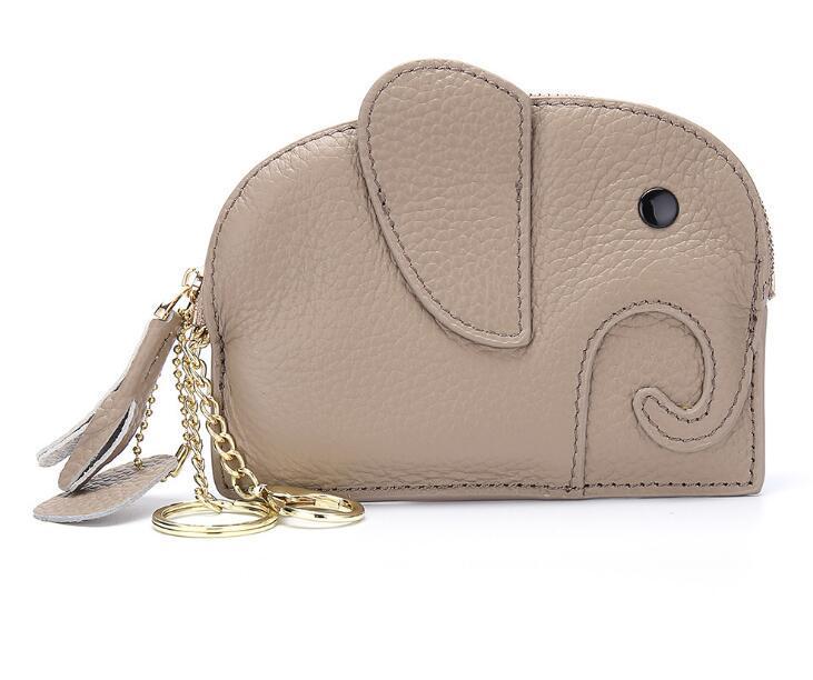 Японская монета, кошелек, кожаные кожаные монеты кожаный слон мини-творческий кошелек монеты женский милый fannypack