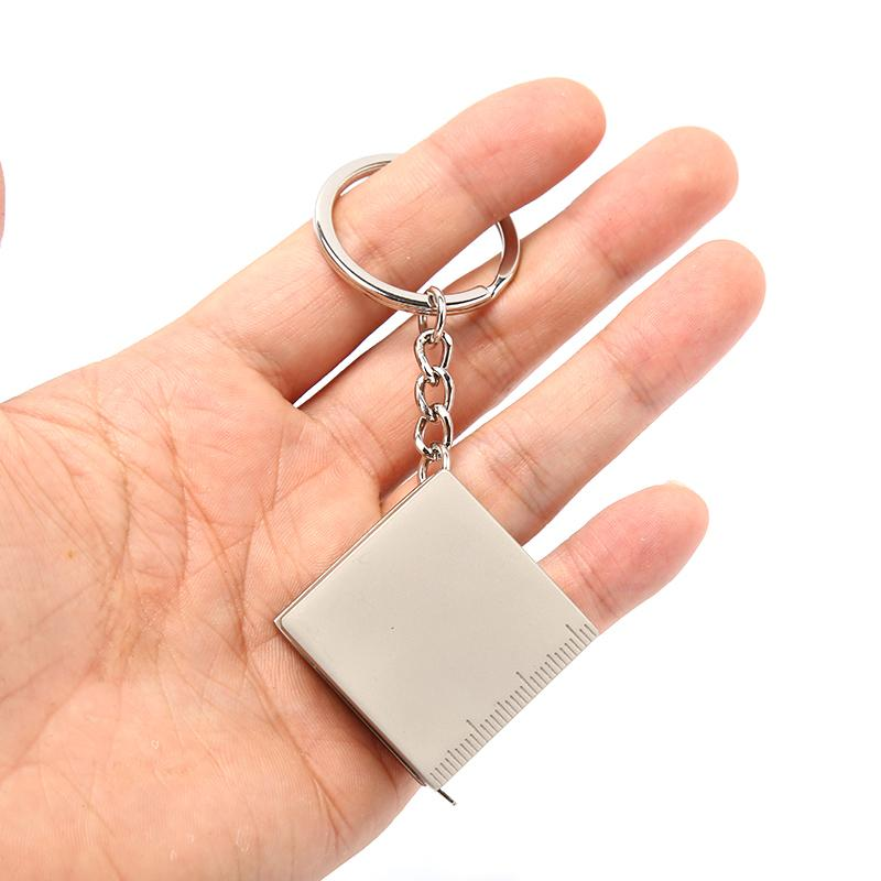 Messen Neuer Ankunfts-Edelstahl einziehbare Maßband Schlüsselanhänger Schlüsselanhänger Gauging Werkzeuge Keyring Pull Lineal