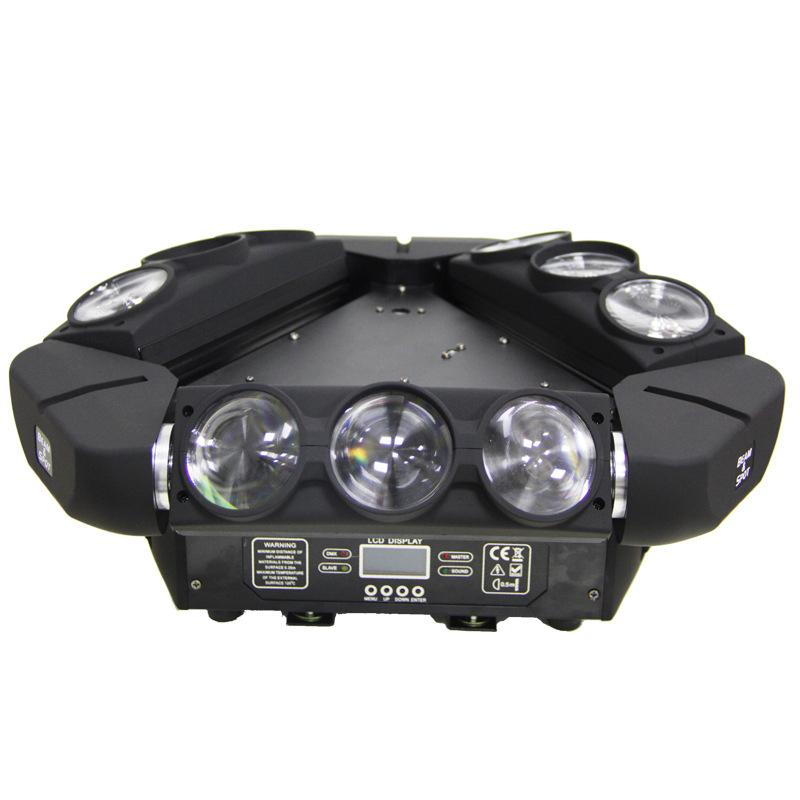 Factory Price Nine Head Beam Moving Light with Laser Flash KTV Bar Rotating Color Stage Light Wholesale Nine Head Bird Moving Lighting