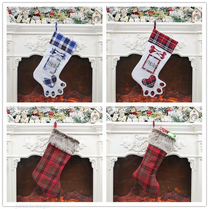 Arbre d'ornement Arbre Candy FactoryJ1zcstocking Chaussettes cadeau Noël Noël Sac à accueil Articles décoratifs Magasin Shopwindow Decora