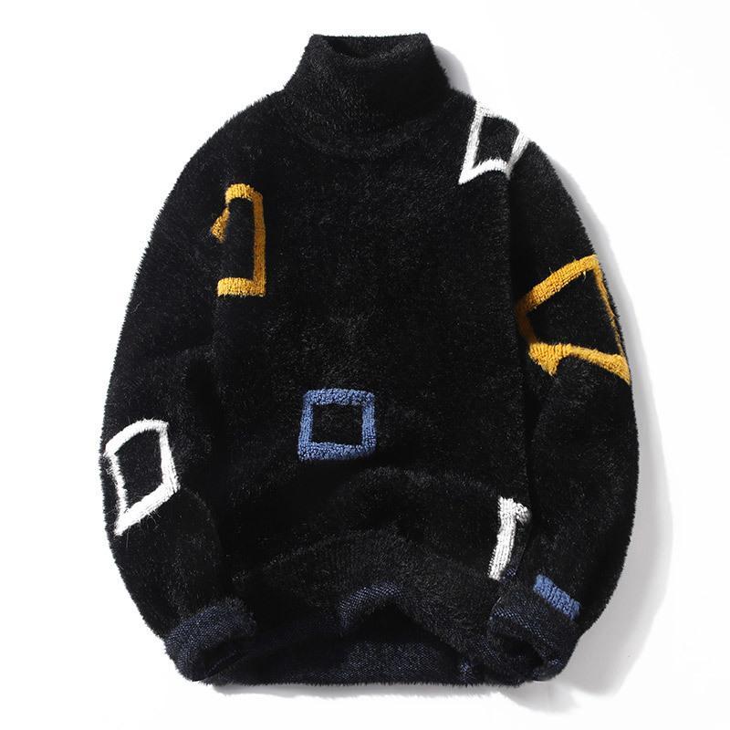 Épaisseur Cachemire Turtleneck Pull Hommes Tops Hiver Homme Pullovers Pulls Confortable Pull de Noël Mens de Noël Soft Chaud Tireuse Homme