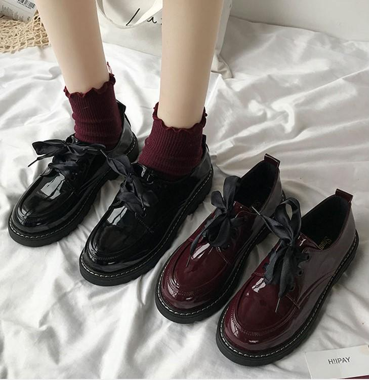 British style flat sole 2020 summer version of the new Korean students with round-headed soft-girl shoes