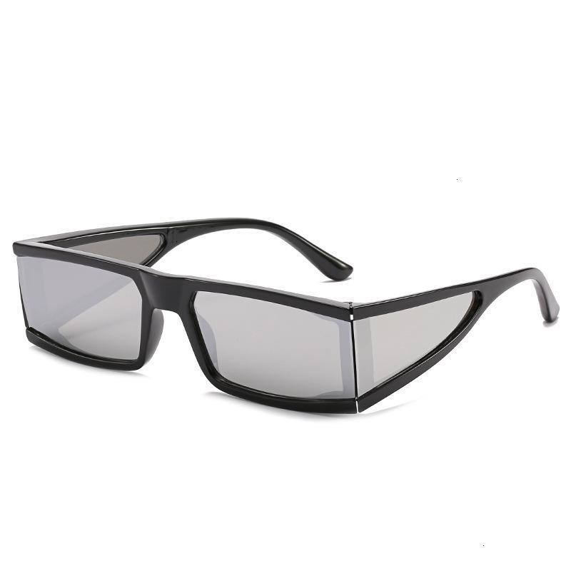 Occhiali quattro quadrati Square Frame maschile e femminile di Sun alla moda degli occhiali da sole femmina Photo riflettente Uv-prova