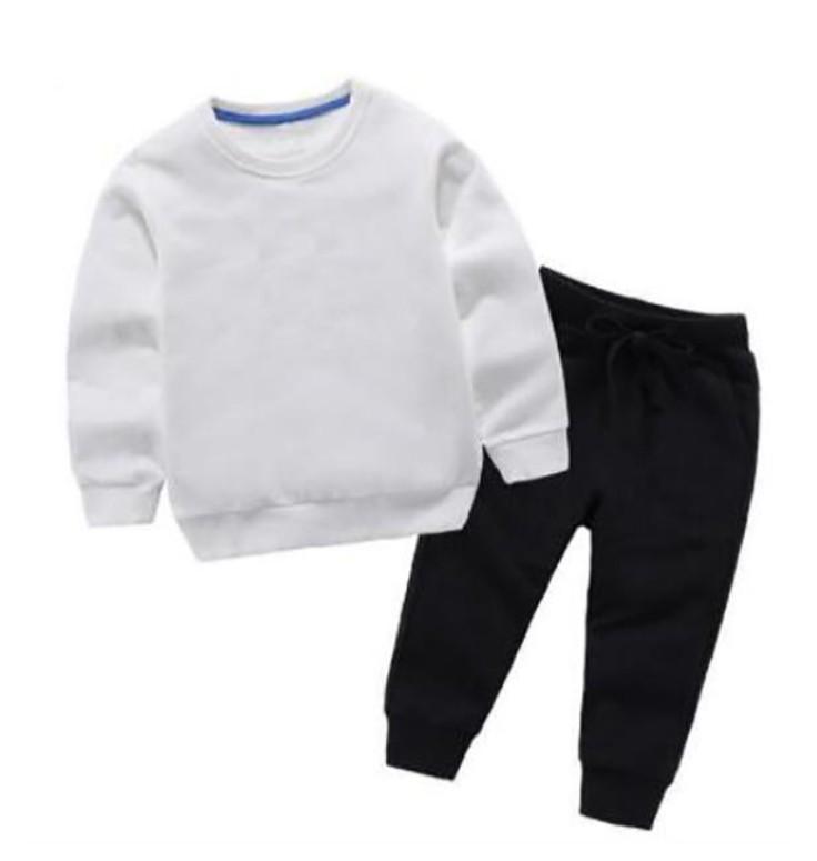 Новые поступления Baby Boys Girls Tracksuits Детская спортивная одежда из двух частей.
