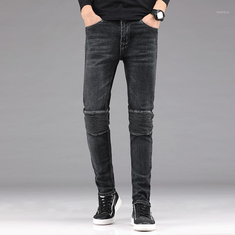 Pantalones vaqueros de verano para hombre Pantalones de mezclilla delgados casuales para hombre de alta calidad Color sólido Pantalones vaqueros de algodón Vintage High Street Denim Pants1