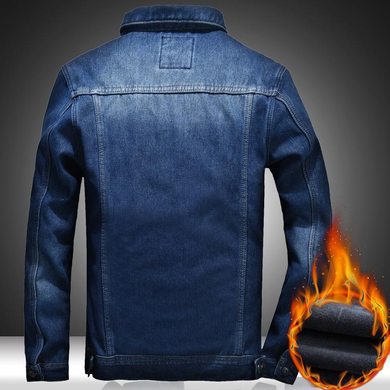 Denim casaco quente e jaqueta mais jeans outono grosso mens homens novos veet selvagem 2019 inverno outwear jovem tamanho grande 5xl cesrg