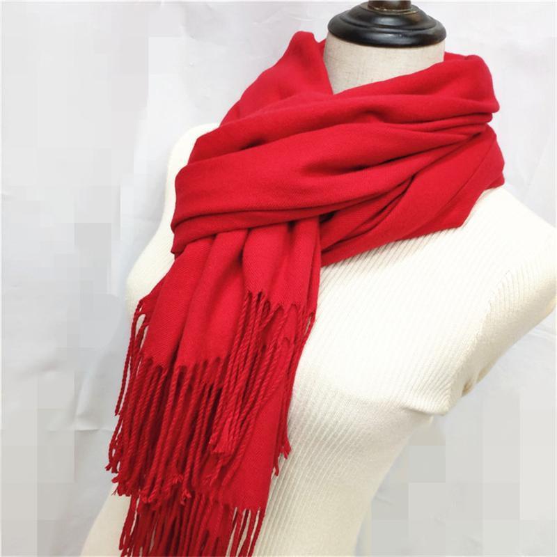 Mujeres de color sólido Cashmere, como bufandas con tasel, señora, invierno, otoño, bufanda larga, pensador, mujer, chal, venta, hombre, venta, hombre, hombre, capa.