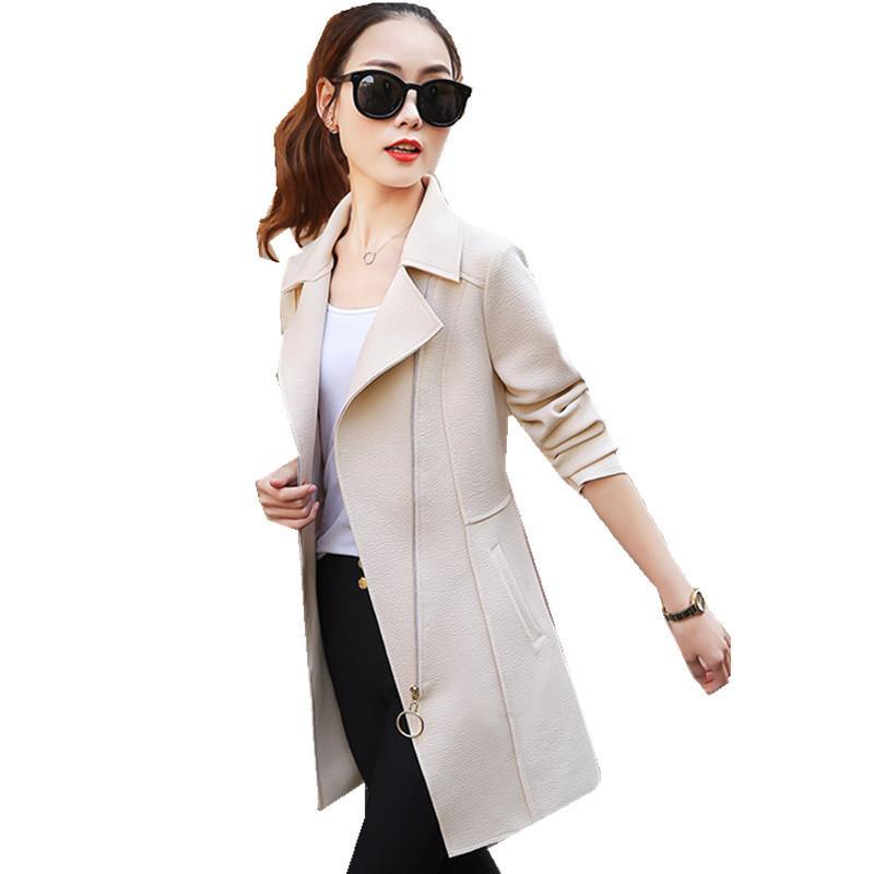 2021 Neue Frau für neue Beiläufige Frühling Feine Damengraben Damenjacke Outwear WXF102 4Yrb