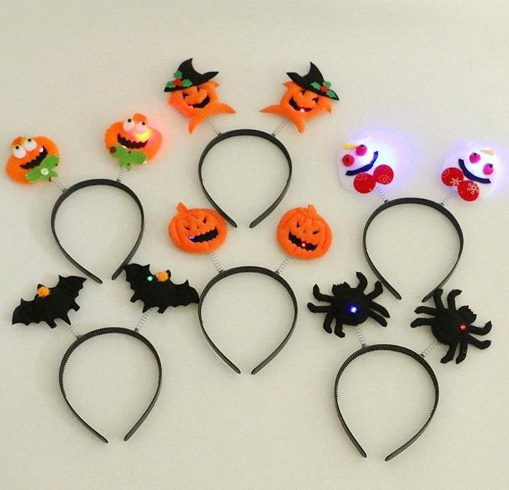 Bopper fascia Spider guidata vestito operato dal partito del costume di Halloween ha condotto Glow Fasce zucca Bat Lampeggiante primavera regali 85nC #