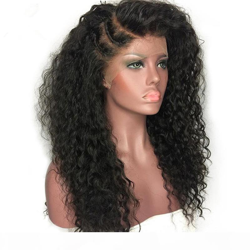 Hot Vente de produits de cheveux brésiliens de Vierge cheveux naturels Couleur 8-26inch 130-180% Densité de dentelle perruques de cheveux humains