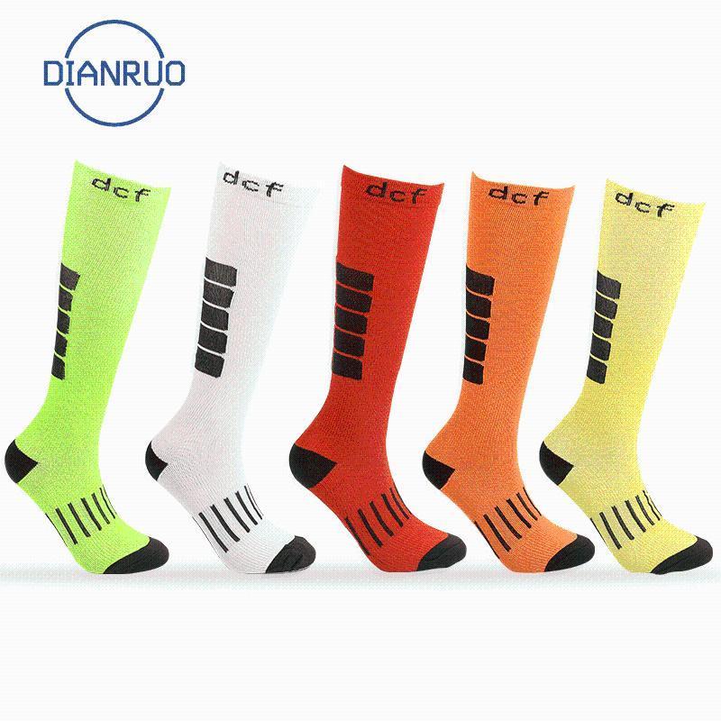 DIANRUO Neue Kompressionssocken Anti Slip Basketball Socken Outdoor Laufen langer Schlauch-Sport Druck Q429