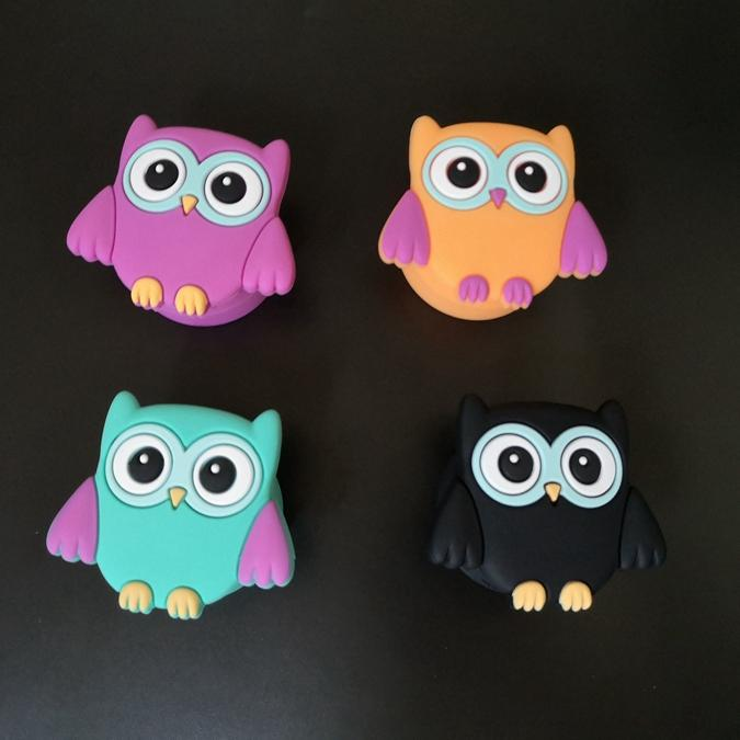 Owl Vorm Wax Containers Cartoon Siliconen Box 11 ml Food Grade Jars Dab Dabber Tool Storage Bho Hash Oil Herb Rubber Houder voor Vape DHL