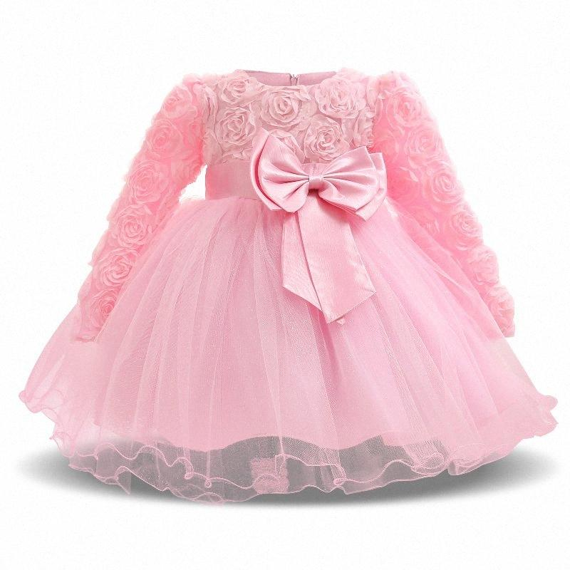 Tulle Abiti Girl Autumn Winter Party Baby Dress Primo compleanno di Natale delle ragazze del bambino del partito Tutu Abiti Vestido infantil lYIM #