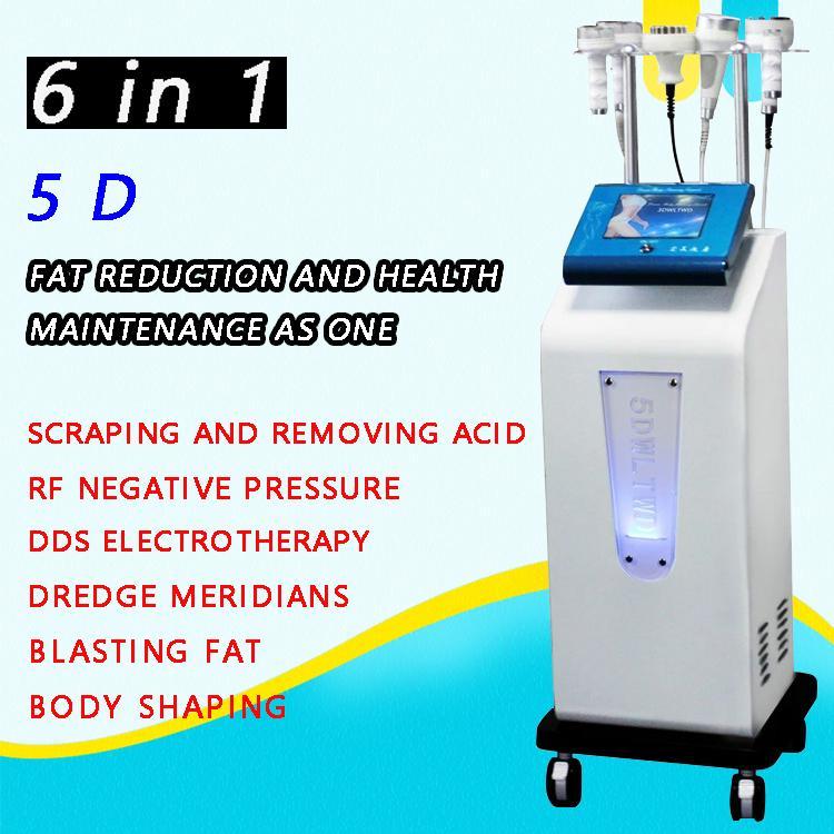Multi-função face elevador ultrassônico cavitação 5d instrumento de escultura rf rf corpo moldando máquina de emagrecimento gordura gordura frete grátis