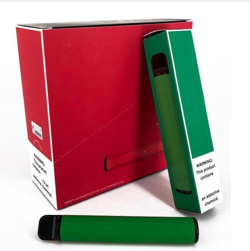 В наличии Puff Bar Plus E-Cigarettes 800 + Clip Cost Cost Cartridge 550MAH аккумуляторная батарея 3.2ML Предварительно заполненное Vape Pods Stick стиль портативный испаритель