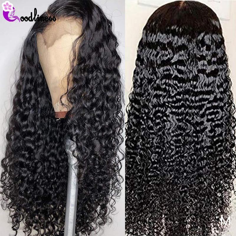 Dantel Peruk Malezya Şeffaf Tutkalsız 13x6 Frontal Peruk Siyah Kadınlar için 180 Yoğunluk İnsan Saç Remy HD
