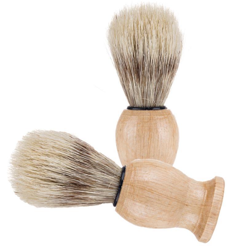 Нейлон Материал Вуди Beard Щетка щетины Бритвенные инструмент Человек Мужчины Бритья Кисти Душевая Комната Комплектующие Очистить Дом 5WM N2