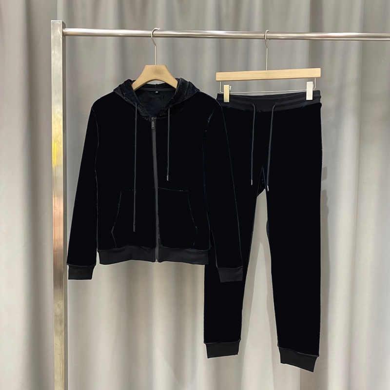 20FW Männer Frauen Trainingsanzüge Mode Hoodie + Joggers Anzüge mit Brief gedruckt Top Qualität Unisex Trainingsanzug Sets mit reflektierender Streifen M-3XL
