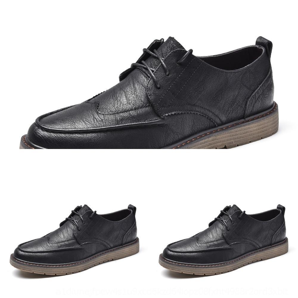 c0z9J Mark Waffel Sommer atmungs britischen Business Casual Leder Herren kleine Schuhe vielseitig Schuhe Herrenmode