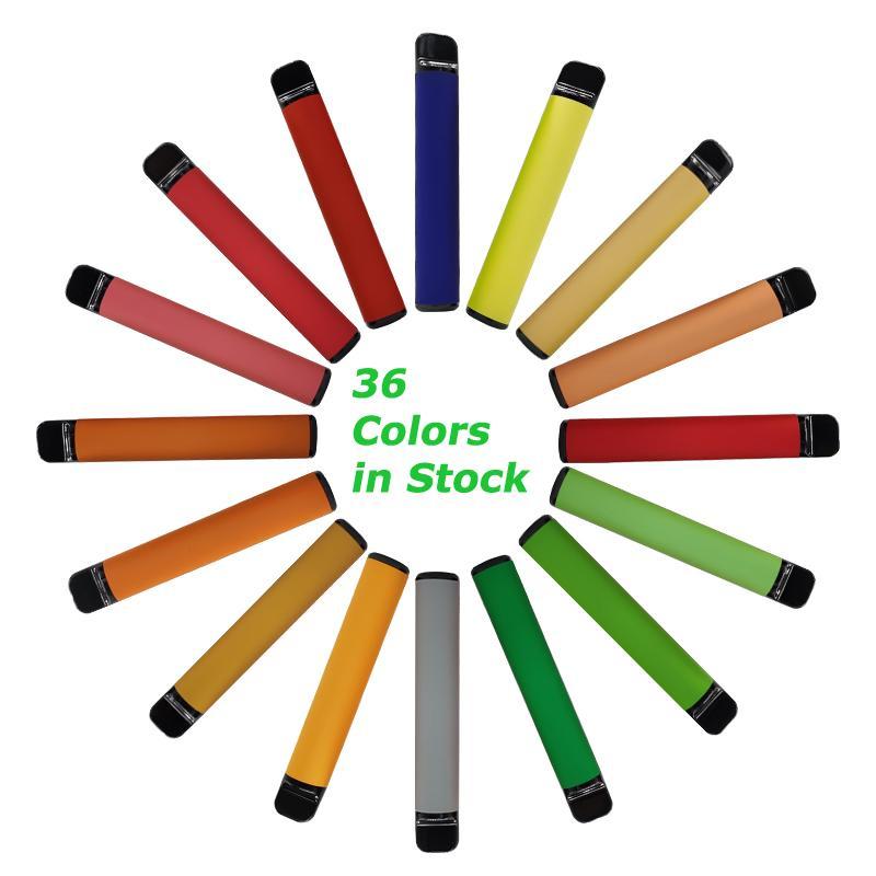 Plus-Einweg-Pod Gerät E-Zigaretten Starter Kits 36 Farben 800 Puffs 3.2m Maß leere OEM-Logo auf Lager Pod Cartridges