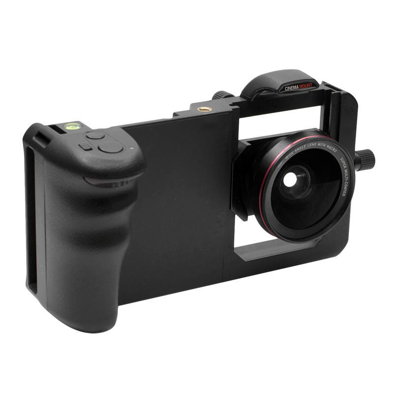 2-In-1 Wide Angle Lens Macro Lens Photography Kit Phone Stabilizer Gimbal Holder