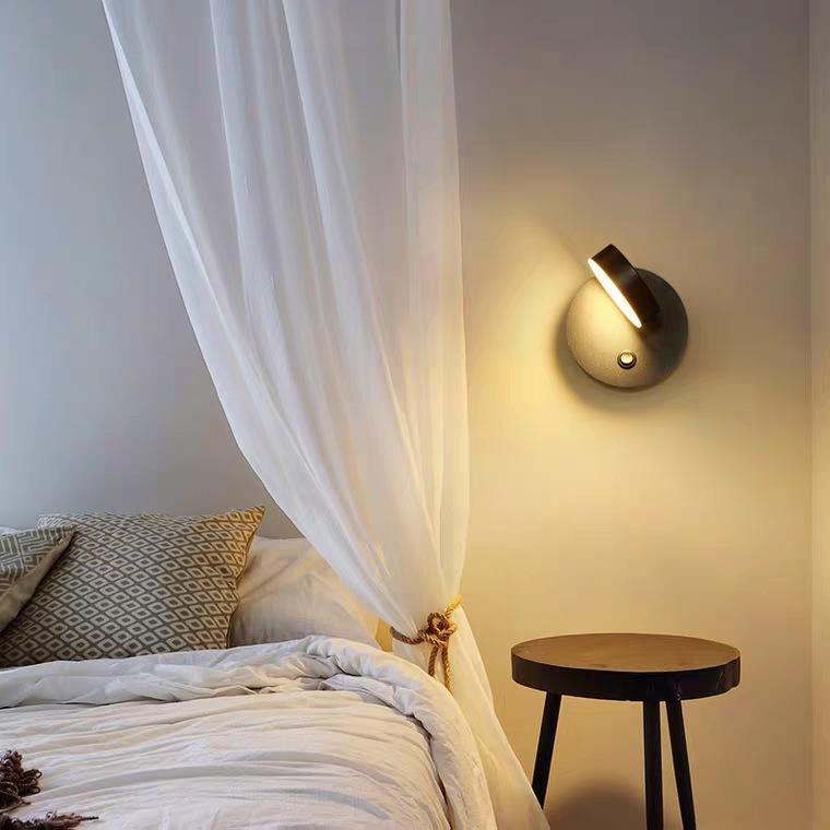 현대 LED 유리 공 벽 램프 벽 빛 Arandela 침실 램프 램프다 카메라 거실 옆