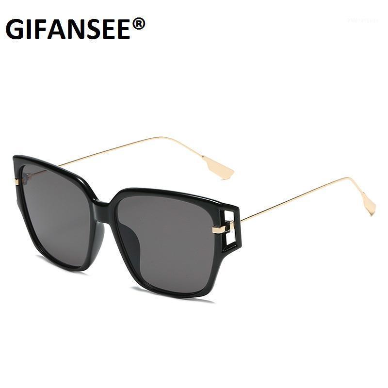 Güneş Gözlüğü Gifansee Kare Kadın Erkek Gözlük Çerçeveleri Şeffaf Lens Marka Tasarımcısı Shades Vintage Gözlük UV400 Trend Erkek Bayan1