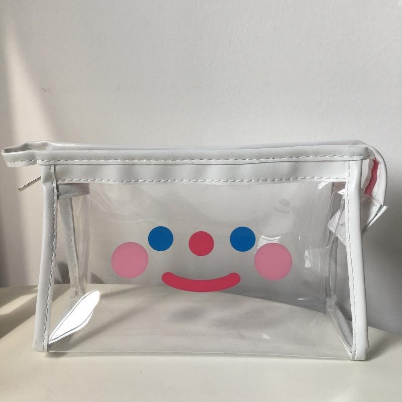 T5Xwi Sanat 1o5Kq şeffaf makyaj su geçirmez kozmetik ins kadınlar depolama kız kalp taşınabilir seyahat saklama çantası el yıkama torbası mavi