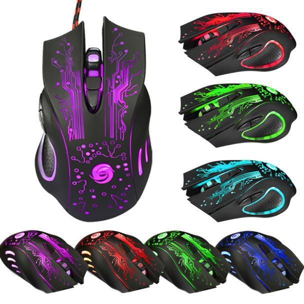 Professional Gaming Mouse 6Keys Adjustable 5500DPI LED Optical USB Wired PRO Mice High Quality Mouse Gamer For PC Laptop 20Jun16