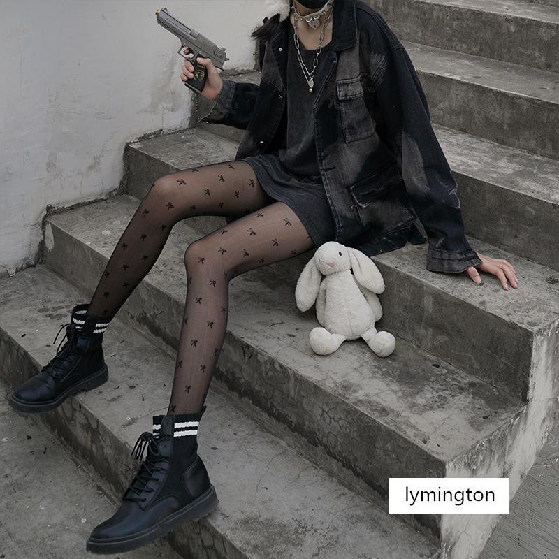 Mektup çocuk yay jk siyah ipek çorap ince bahar seksi külotlu çorap