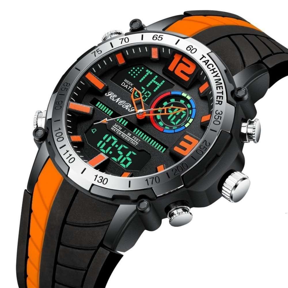 Сенаторы показывают новые спортивные двойные часы часов 150 экологических силиконовых наручных часов