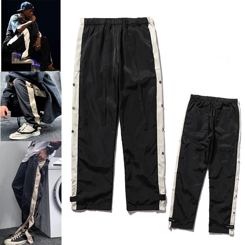 2021 Mens Joggers Pantaloni Casual Pantaloni fitness uomo sportswear Tracksuit Bottoms Skinny Sweatpants Pantaloni Pantaloni Pannelli Neri Pantaloni da jogger Pantaloni da pista